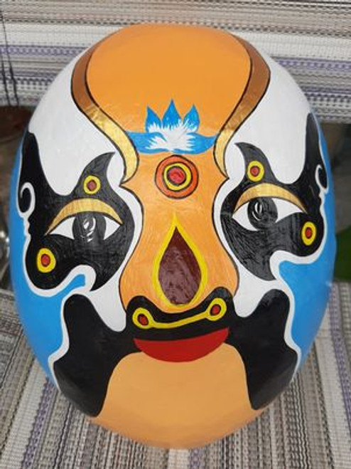 Blue Festive Man Face Mask - NO.14