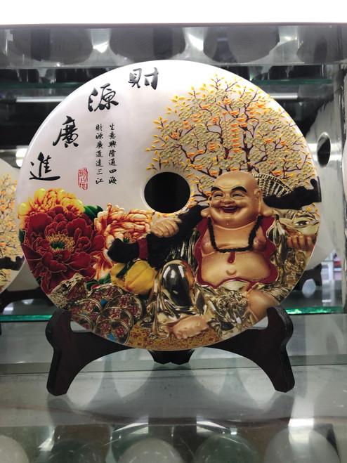 Stone carving decoration with Maitreya Buddha 007
