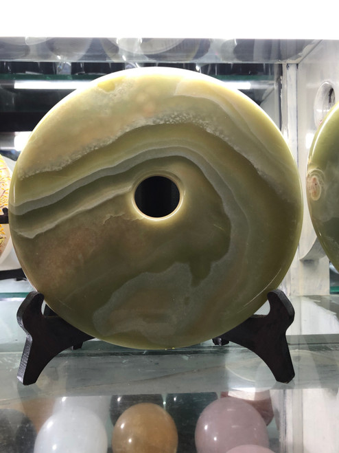 Stone carving decoration in round shape 008
