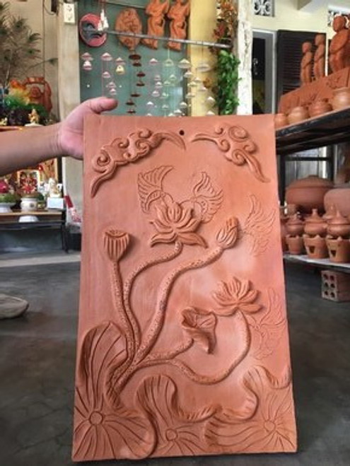 Lotus Pottery Painting - Wall Decoration NO.19