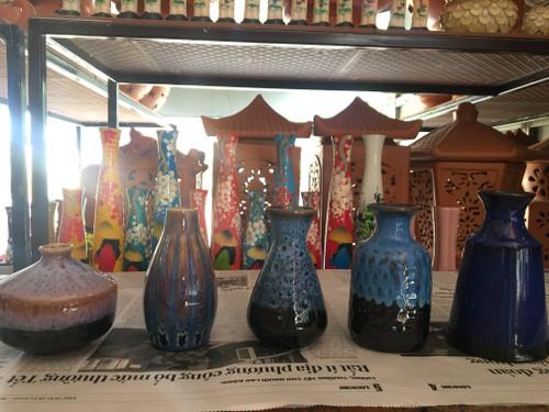 Blue Ceramic Pottery Vase - 5 Sizes - No.22 (Combo)