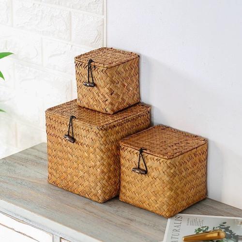 Square sedge box with lid