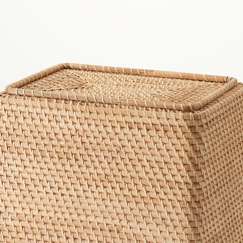 Basket made of bamboo and rattan