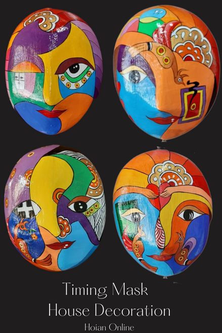 Special Combo 4 Festive Masks with Vibrant Colours