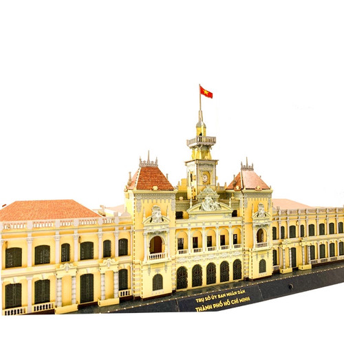 The 3D Ppaper Self-assemble Model of HCMC People's Committee Headquarter Size 30x15x22cm