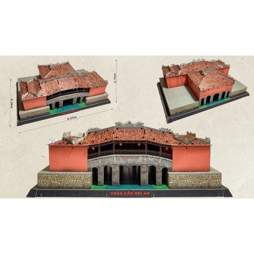 The 3D Paper model of Hoi An Covered Bridge Temple Size 37cm x 24cm x 15cm