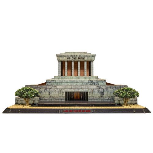 The 3D Paper Assemble Model of Ho Chi Minh Mausoleum Size 31cm x 37cm x 19cm