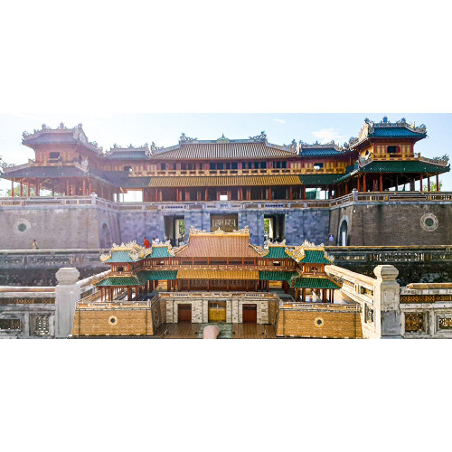 The 3D Paper Assemble Model of Ngo Mon Gate - Royal Citadel in Hue City 179 pieces