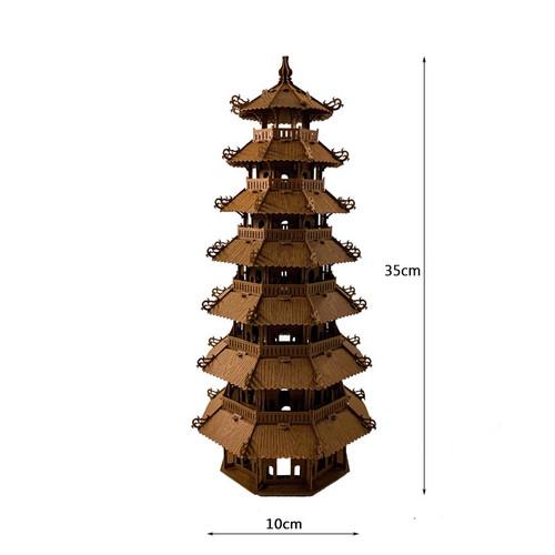 3D Paper Assemble Model of 7-Story Stupa in Hue Size 15cm x 35cm