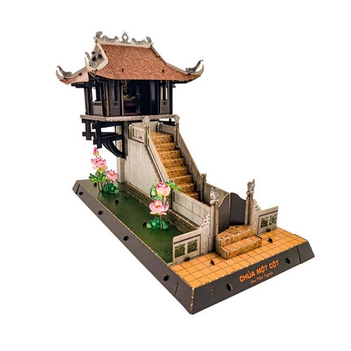 The paper 3D Assemble Model of HANOI Pillar Pagoda - Size 30cm x 15cm x 22cm