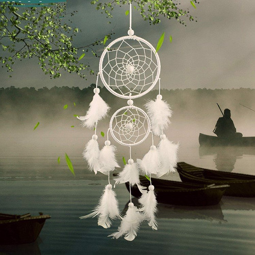 Wall hanging dreamcatcher with feathers – Home decor