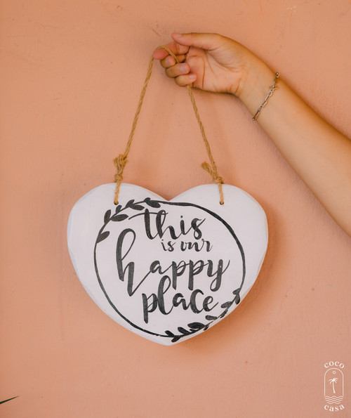 """""""Happy Place"""" Sign - Wall Decoration"""