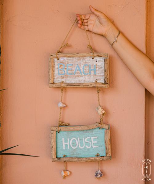 """BEACH HOUSE"" Sign - Wall Decoration"