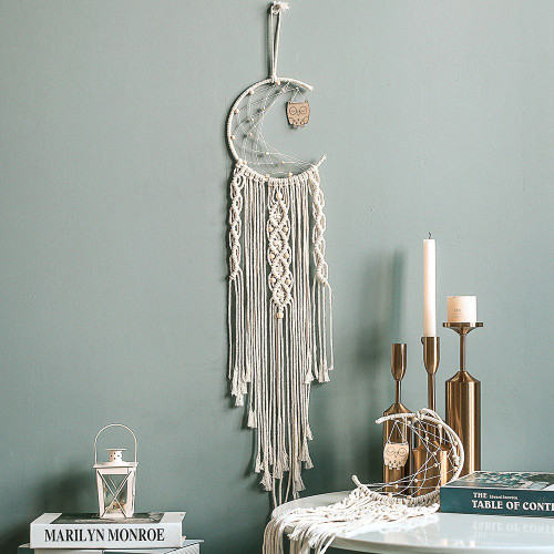 Dreamcatcher with owl – Bohemian style for decoration