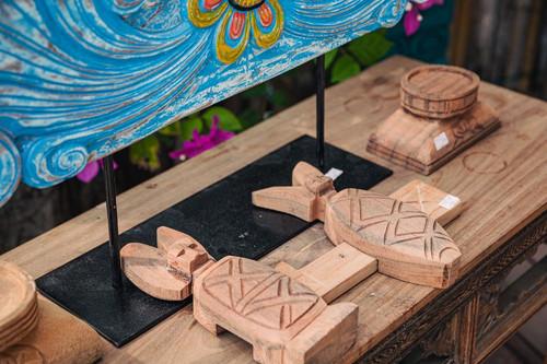 Carved Wooden lock - Handcrafted Artwork