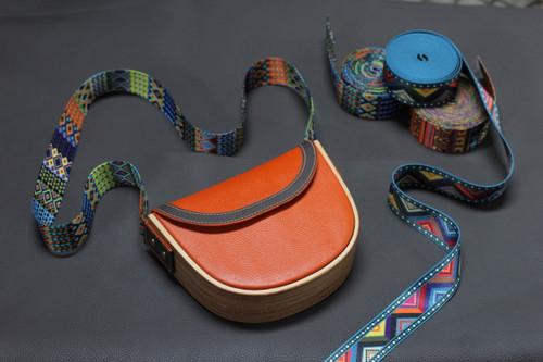 Handmade wooden bag - Cowhide pullup