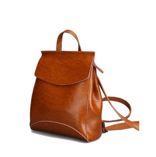 Brown cowhide backpack