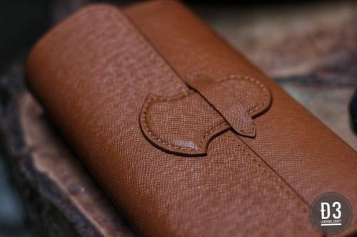 Handmade cowhide long wallet