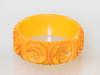 different lighting for pumpkin yellow orange bakelite