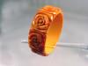 Ornate vintage Bakelite bangle bracelet