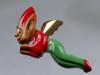 1940 Carved Christmas Elf Brooch