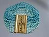 Multi Bead Bracelet in Blues