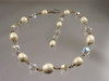 Crystal Pearl Dainty Chain Necklace