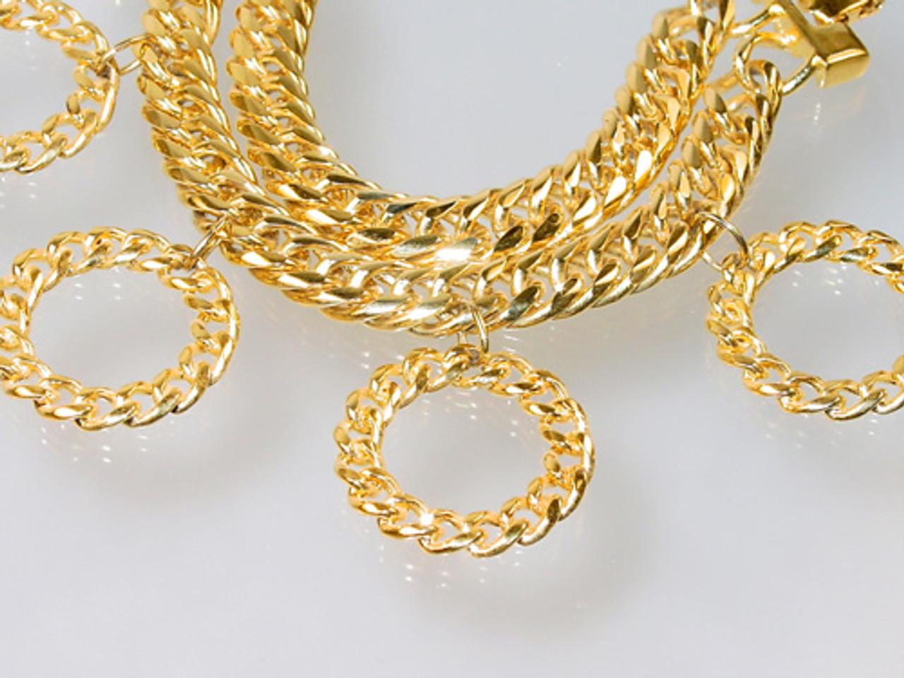 Large hoop Monet bracelet