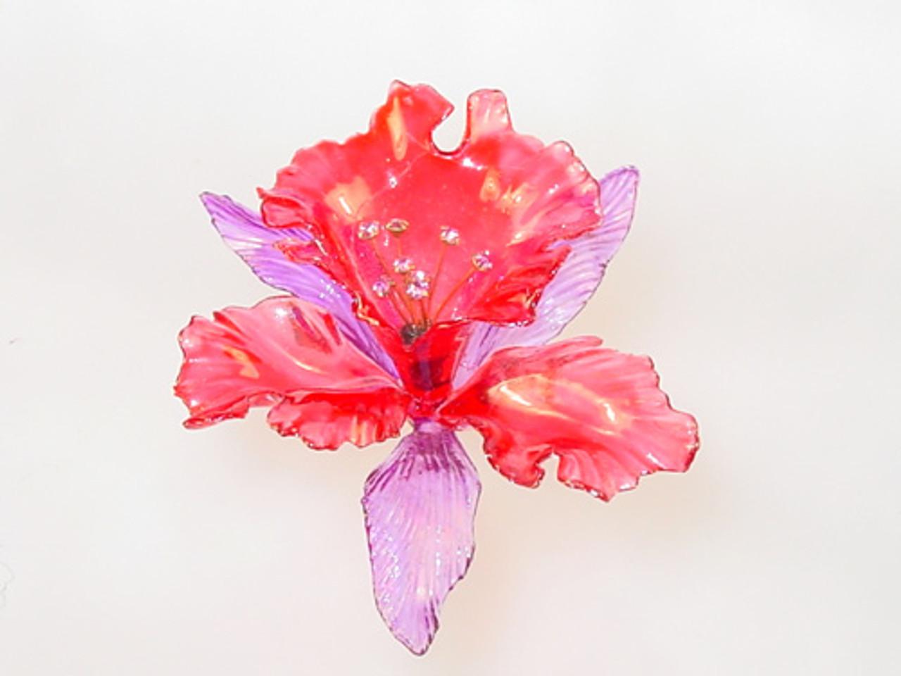large dimensional iris brooch