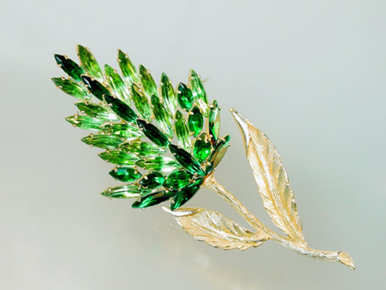 Tall wild floral brooch