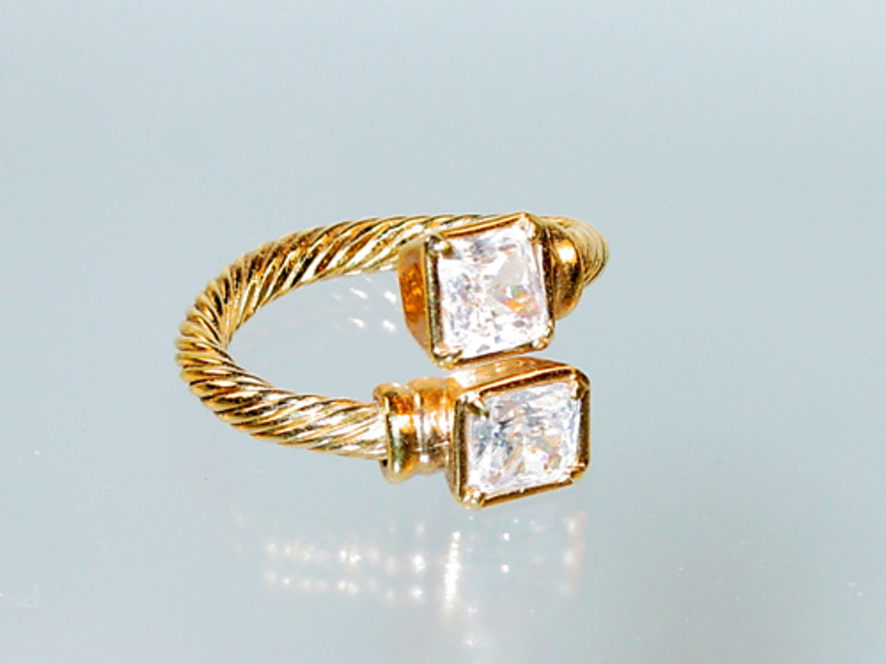 Wrap ring square crystals
