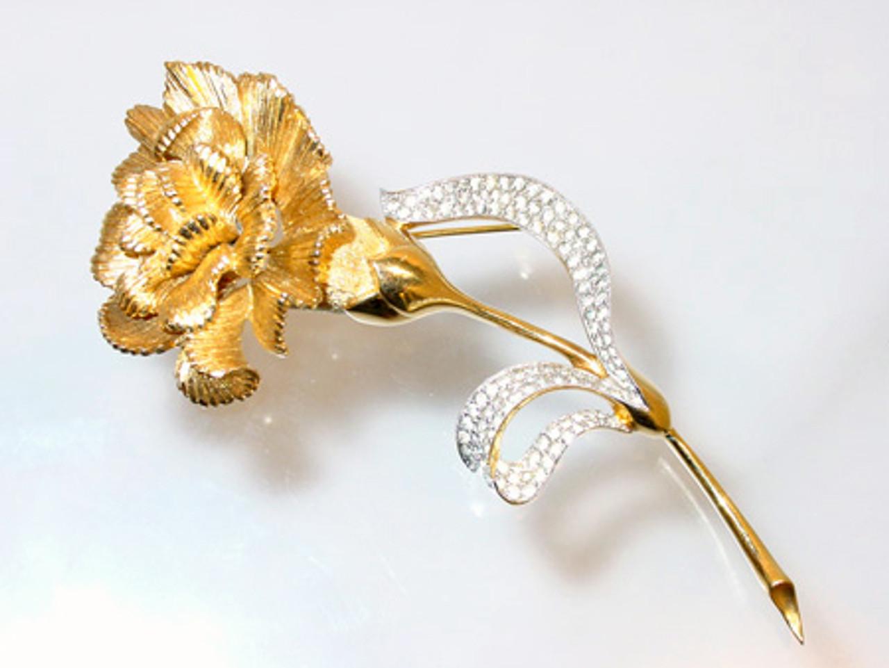 Huge Jomaz flower brooch
