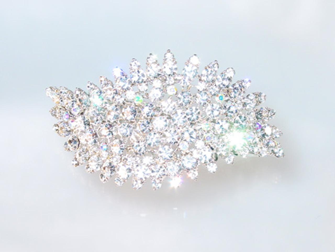 Huge crystal hair jewelry