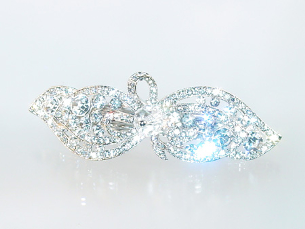 Tiered crystal barrette