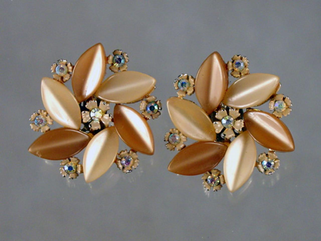 Lisner clip earrings 1960's