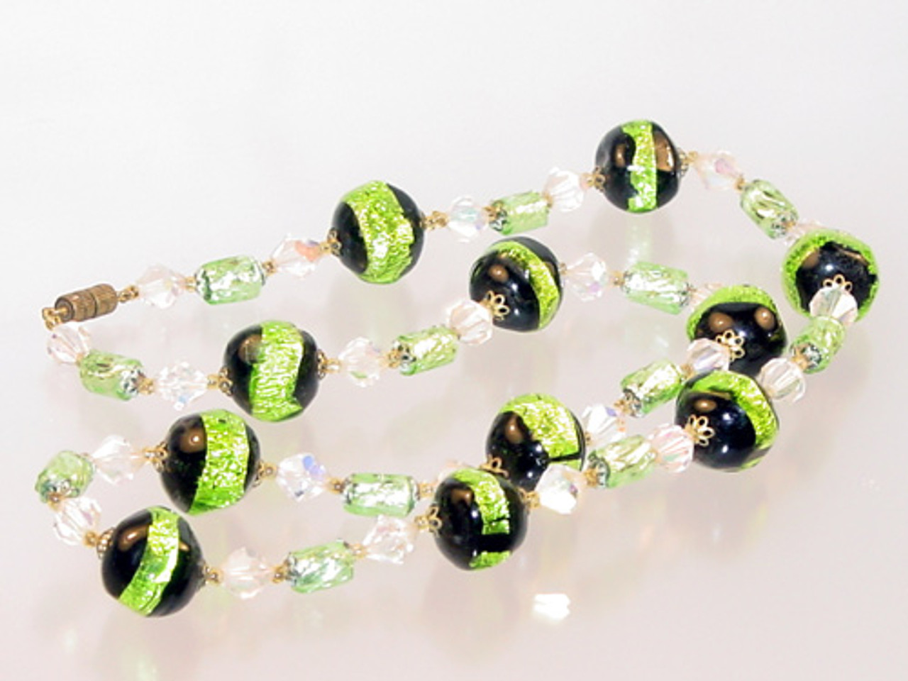 Venetian glass foil beads