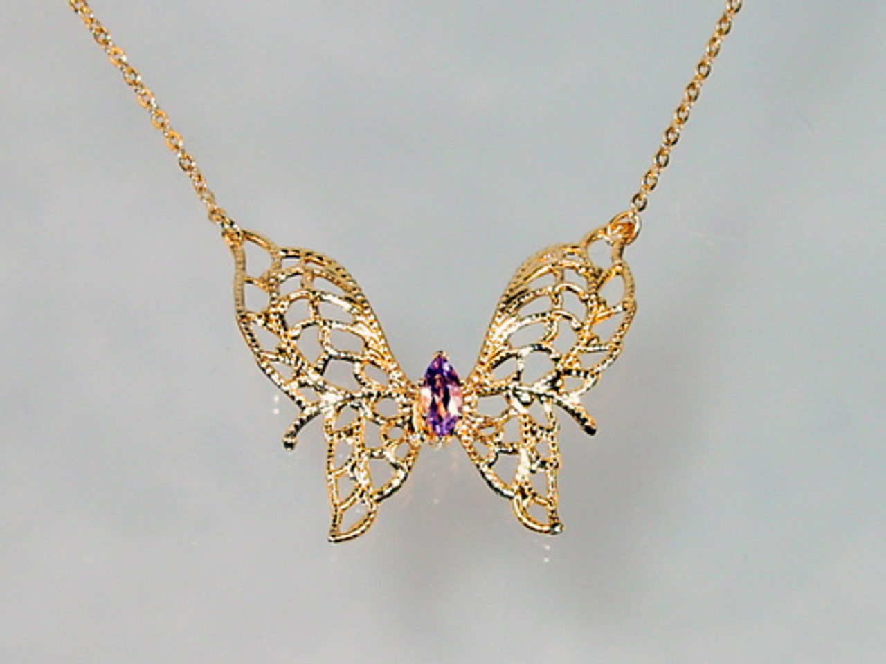 Lind Filigree Butterfly Necklace