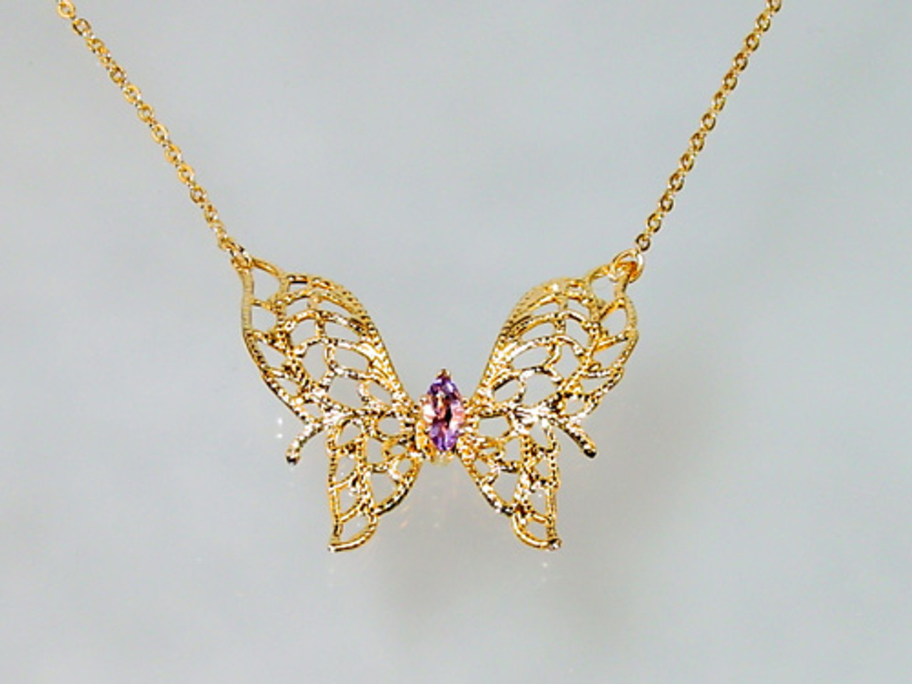 Butterfly marquise necklace