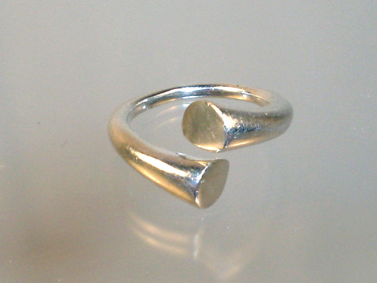 Geometric Sterling Silver Wrap Ring