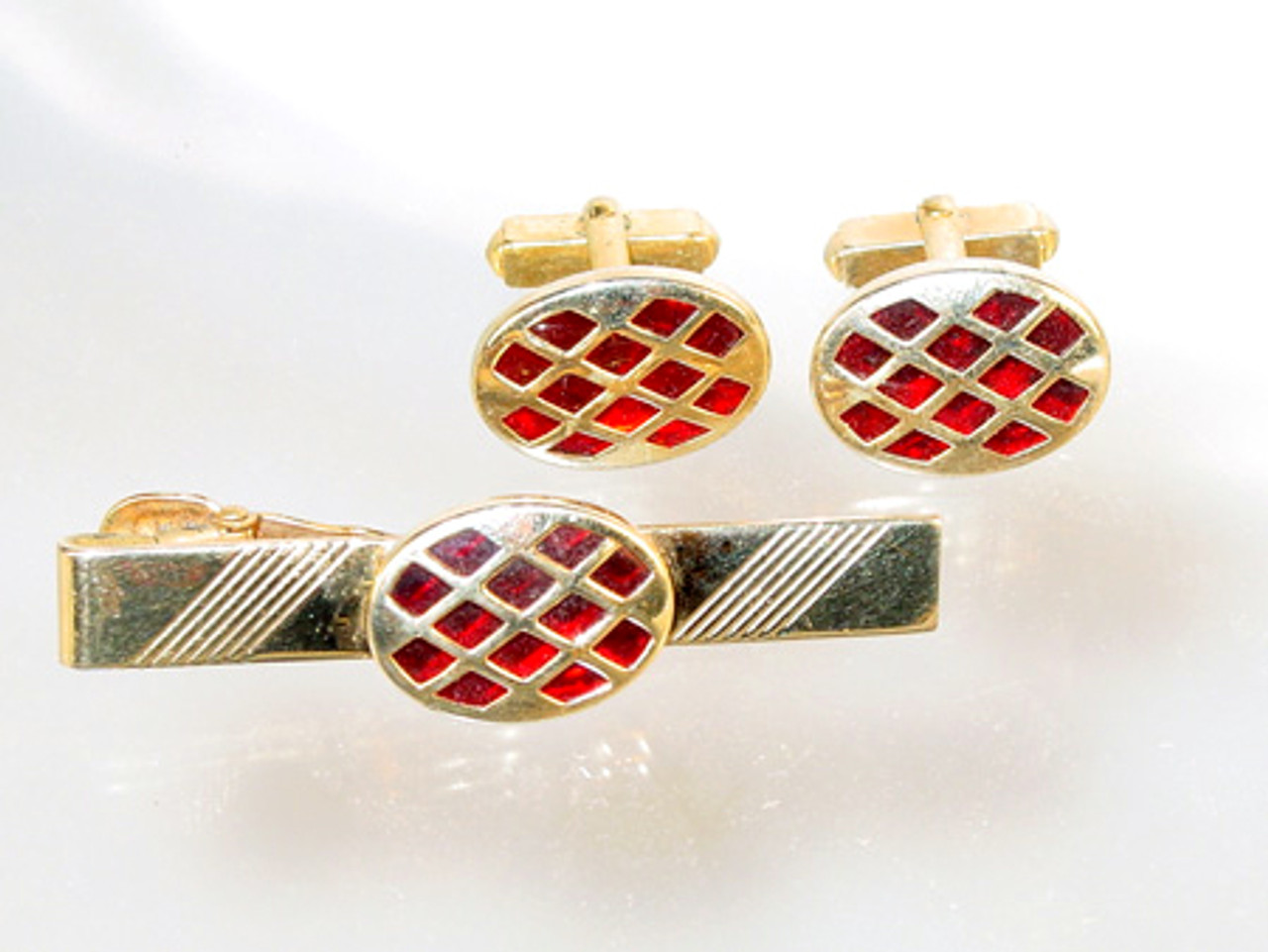 Anson Cuff-links and Tie Clip Bar Set