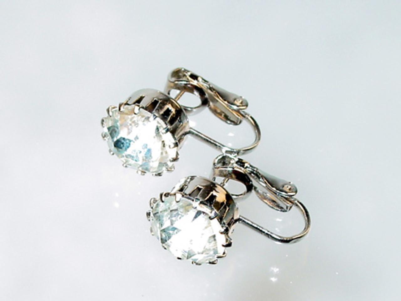 Vintage large rhinestone center earrings