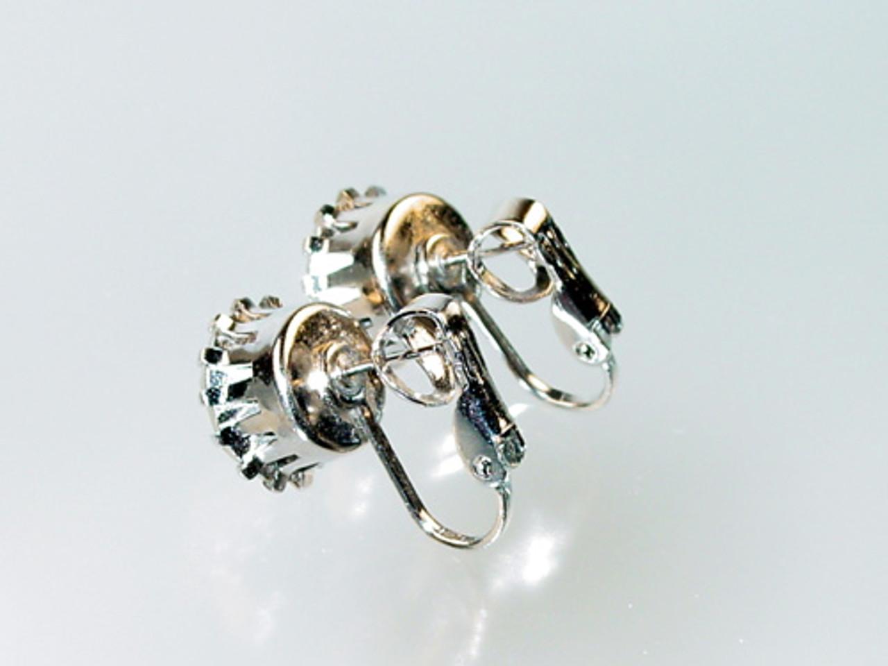 pierced clip back earrings setting