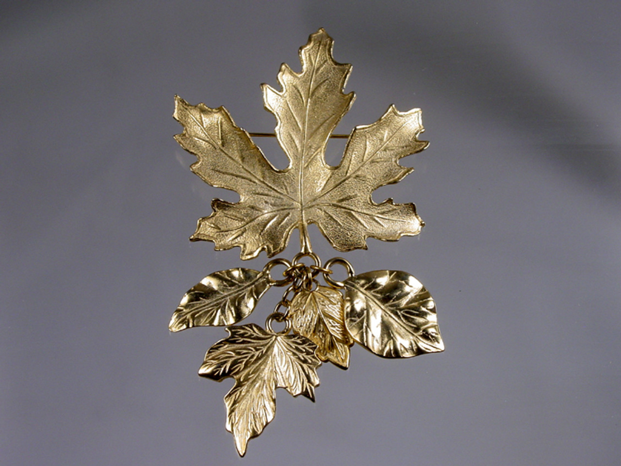 Autumn Fall Leaves Large Pin