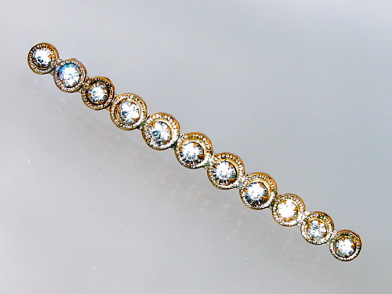 Antique paste crystal pin
