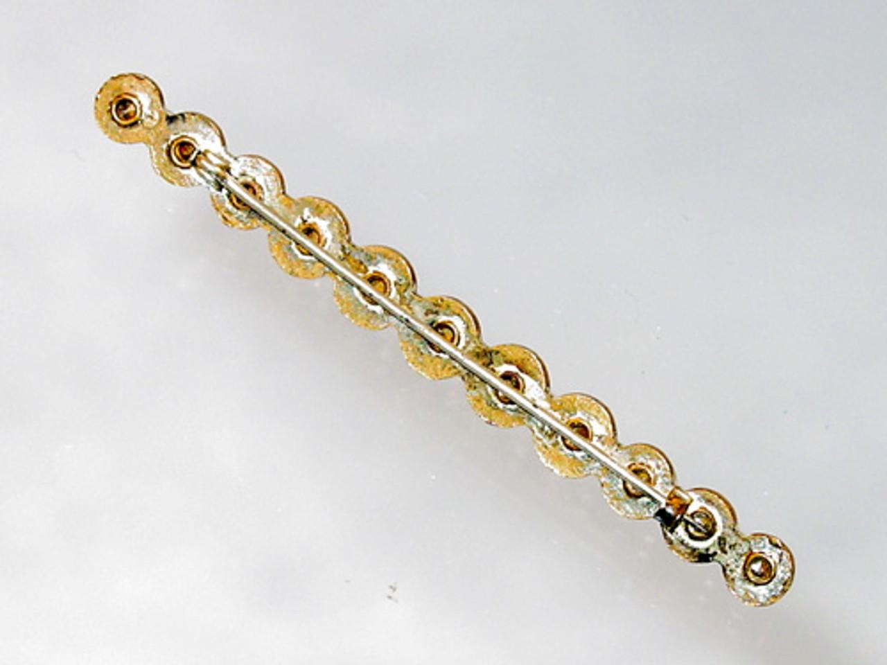 Long antique brooch