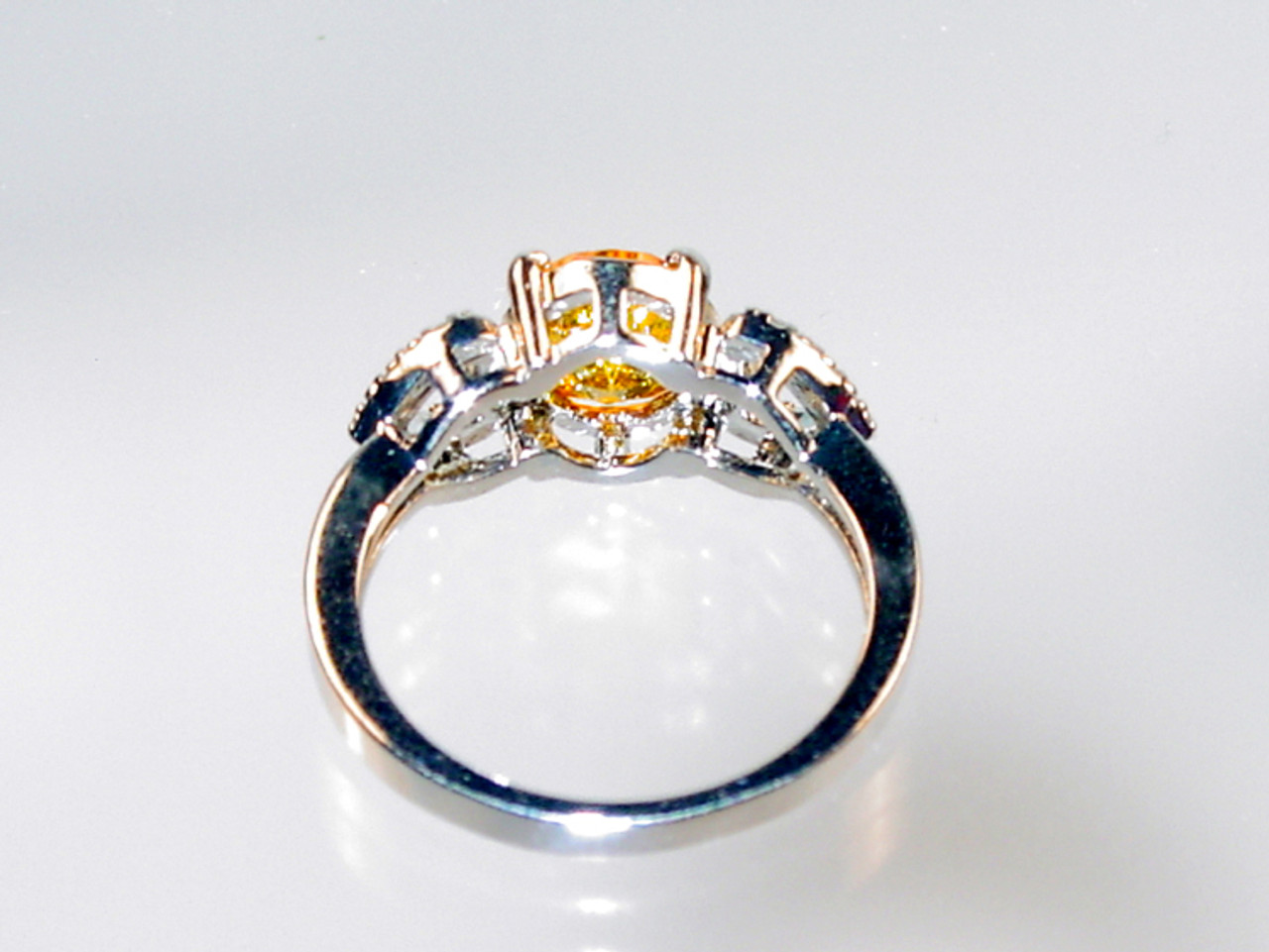 Back of hearts and yellow crystal ring