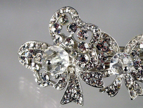 close up of crystal bow