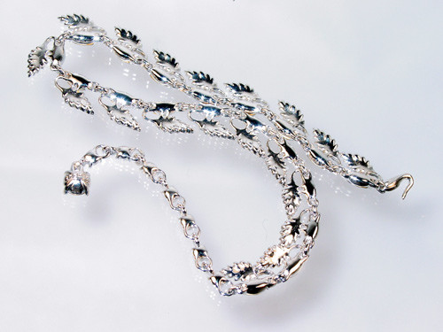 back of Bogoff marquise necklace