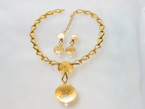 Monet Pendant Necklace and Earrings set from the 1980's