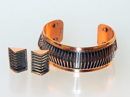 Renoir bracelet earrings set
